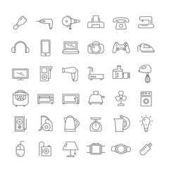 Icons with appliances.
