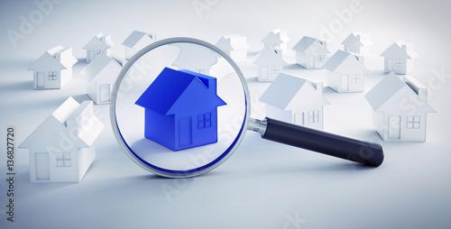 Immobilien suche blaues haus 1 stockfotos und for Immobiliensuche privat