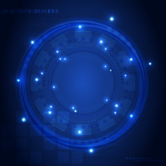 Abstract tech background. Abstract blue background.