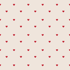 Valentine`s Day card, hearts