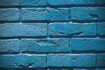 Blue bricks, background, texture