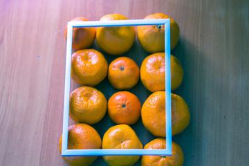 tangerines white frame