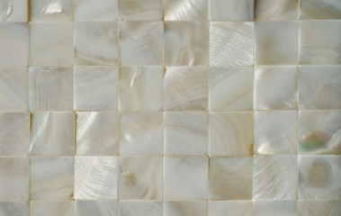 Mother of Pearl square tile background
