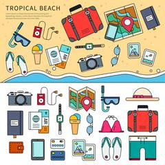 Tropical trip set
