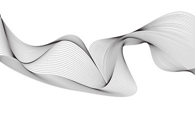 Obraz abstract smooth gray wave curve motion lines graphic - fototapety do salonu