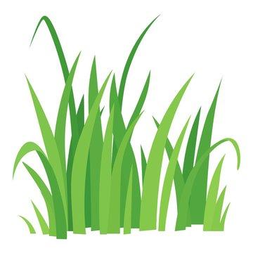 Grass icon, cartoon style
