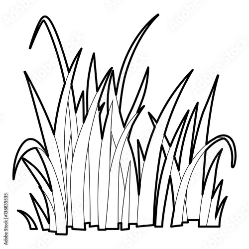 Line Drawing Grass : Quot grass icon outline style stock image and royalty free