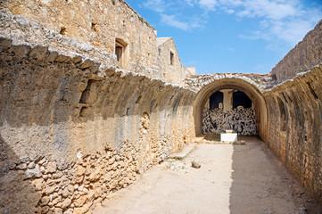 Remains of the gunpowder storage room of Arkadi Monastery, Crete