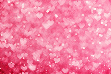 Abstract background, heart shaped defocused lights