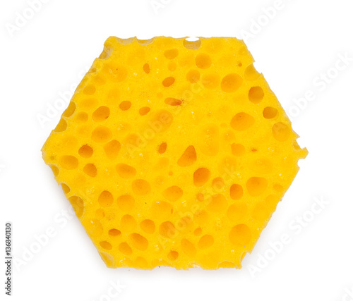 Unusual hexagonal sponge for washing and cleaning of kitchen wa stock photo and royalty free - Seven different uses of the kitchen sponge ...