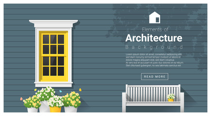 Elements of architecture , window background , vector ,illustration