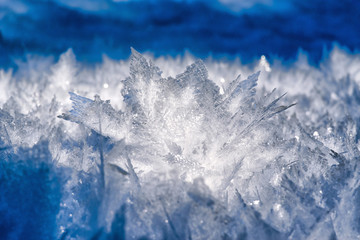 Natural ice crystals