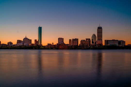 Long Exposure of the Boston Skyline
