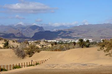 Dünenlandschaft am Strand von Maspalomas