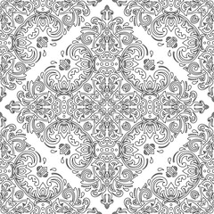Elegant classic pattern. Seamless abstract background with repeating elements. Black and white pattern