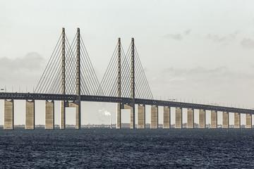 Öresundsbron mellan Malmö i Sverige och Köpenhamn i Danmark