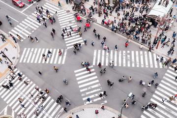 Straßenkreuzung in Tokyo, Japan