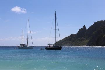 Ocean and sailboats