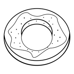 Donut icon, outline style