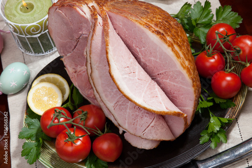 "Baked Easter Ham with Vegetables"" Stock photo and royalty-free images ..."