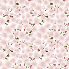 桜の花 シームレスパターン背景素材