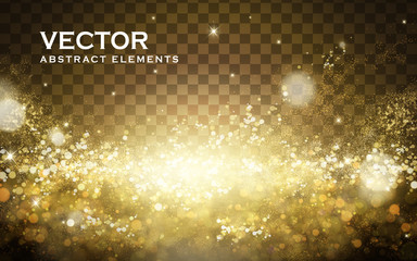 golden light powder background