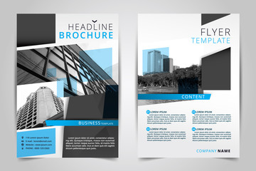 Cover design annual report,vector template brochures, flyers, presentations, Leaflet cover,  Abstract flat background, building, layout in A4 size