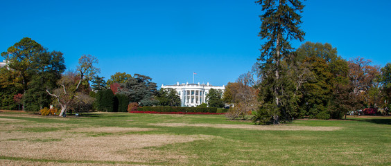 The White House and Lawn at the Nations Capital, Washington D.C.