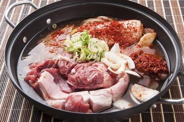 dwaeji kimchi jjigae is korean style stew, korean traditional soup,