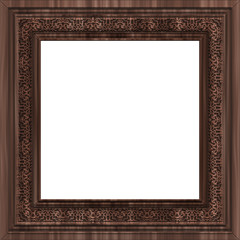 Square  wooden frame with ornament
