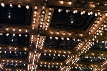 Lights on a theatre ceiling