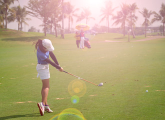Women's golf is a sport that requires endurance.