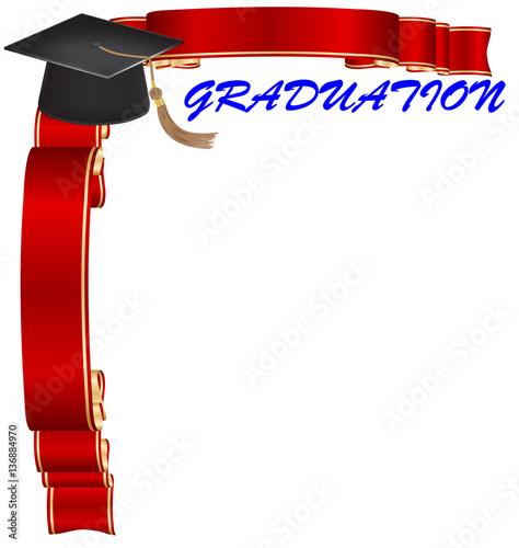 """graduation frame border"" Stock photo and royalty-free ...Red Graduation Borders"