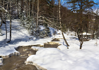 Река Белокуриха ранней весной