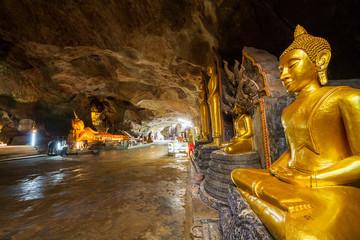 Buddha statue at Suwannakuha cave temple, Phangnga province,Thailand