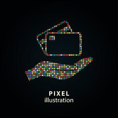 Credit card - pixel illustration.