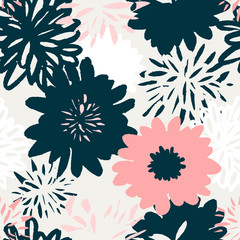 Fototapete - Abstract Floral Pattern