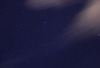 night sky with Ursa Major and Ursa Minor constellations