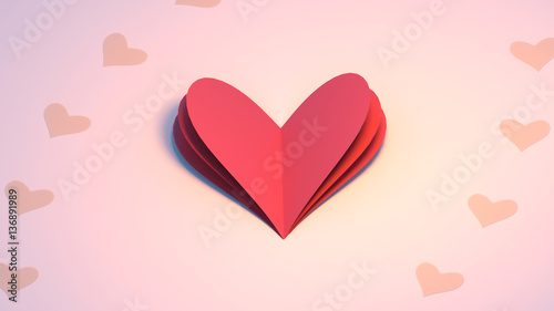 3d Rendering Picture Of Happy Valentine S Day Greeting Card Heart
