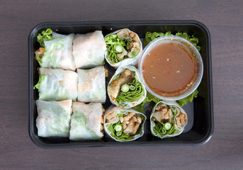 Vietnamese Spring Rolls - To Go Container