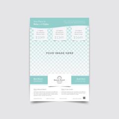 summer vacation travel flyer brochure