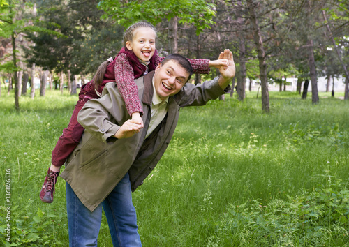 Image result for father and female child with trees image