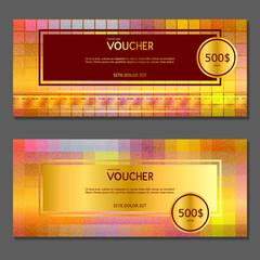 Gift voucher. Vector, illustration.