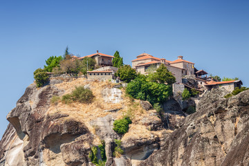 Sunny view of Meteora, Greece.