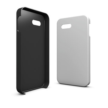 Blank and White phone case. 3d illustration