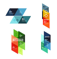 Set of vector triangle geometric infographic