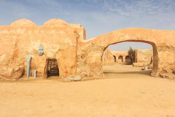Tatooine decoration in Sahara desert