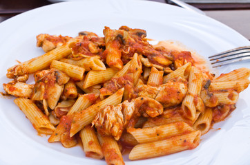 Penne - chicken and tomato sauce