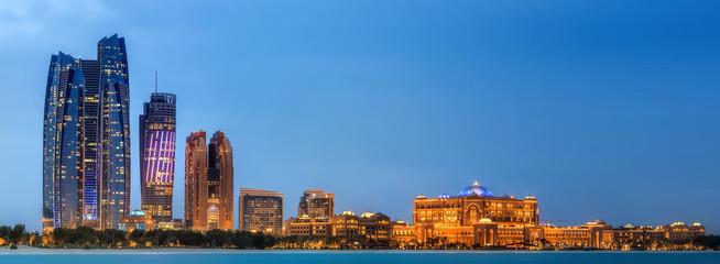 Photo sur Aluminium Abou Dabi Abu Dhabi Skyline