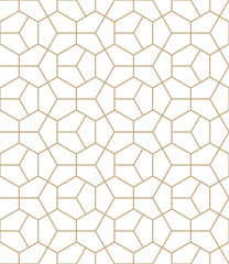 Self adhesive Wall Murals Gold abstract geometric Abstract geometry gold deco art hexagon pattern